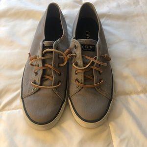 grey slip on Sperrys